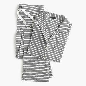NWT J.Crew Dreamy cotton pajama set in stripe